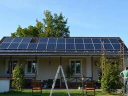 Установка солнечных электростанций, солнечные панели