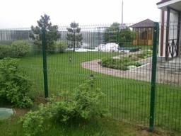 Забор из сварной сетки 3 Д , Рубеж с пвх покрытием под ключ