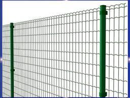 Установка забора из сетки с ПВХ или полимерным покрытием