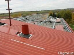 Разуклонка крыши, на действующей плоской крыши