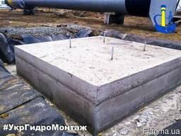 Устройство, заливка фундамента под водонапорную башню