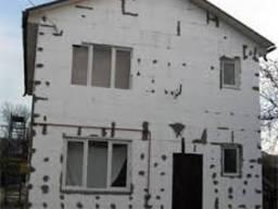 Утеплении фасадов