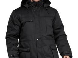 """Утепленная куртка """"Охрана""""мужская черного цвета, плащевая"""