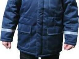 Куртка тёплая с меховым воротником , рабочая одежда, утеплённа