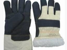 Утепленные рабочие кожаные перчатки