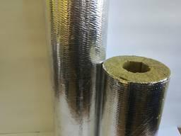 Цилиндр базальтов 80кг/м3, фольгир, толщ30, диаметр 42мм