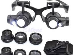 Увеличительные очки лупа с подсветкой 10X 15X 20X 25X