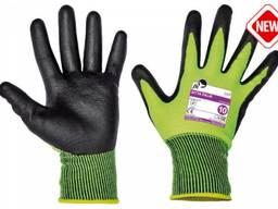 В'язані безшовні робочі рукавички.