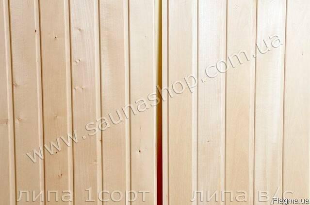 Вагонка деревянная для бань, вагонка липа для саун