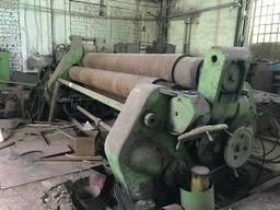 Вальцы четырехвалковые 3800х25мм, вес 40 тонн, немецкие