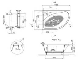 Ванна акриловая Lidz Wawel 150L 150x100 с ножками Nozki A 150