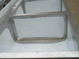 Ванна моечная трехсекционная из нержавейки для столовой