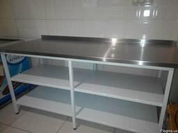 Ванны моечные, мойки, столы производственные, стеллажи, зонт