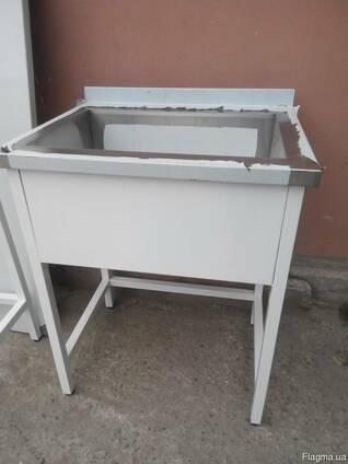 Ванны моечные, мойки, столы производственные, стеллажи