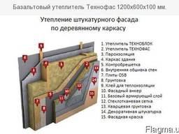 Вата минеральная для фасада Технофас Эффект, Коттедж, Оптима