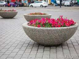 Вазон декоративный бетонный круглый Олимп