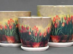 Вазон для цветов Тюльпаны