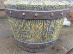 """Вазон """"Коромисло"""", бетонний, садово-парковий d330*h440"""