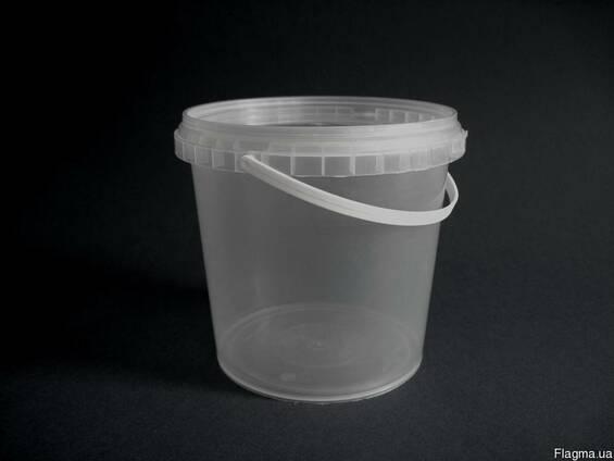 Ведро пластиковое (полипропиленовое) 1,1 литр