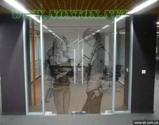 Векторное матирование стекла без пескоструя