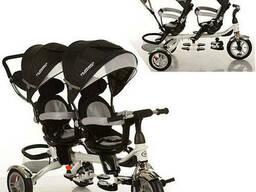 Велосипед для двойни Turbo Trike M 3116TW-3A black