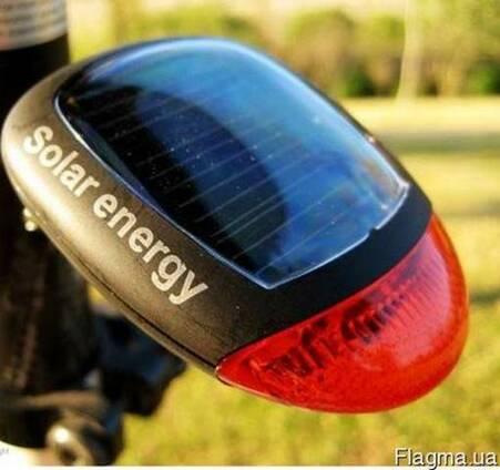 Велосипедный задний стоп фонарь на солнечной энергии батарее
