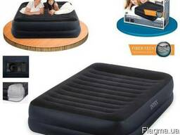 Велюровая надувная кровать матрас Intex 64422