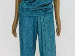 Велюровая Женская Пижама майка и штаны 44-52, доставка по. ..