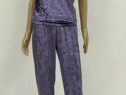 Велюровая Женская Пижама майка и штаны 44-52р, доставка. ..