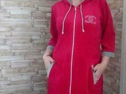 Велюровый халат женский 44-52 , доставка по Украин