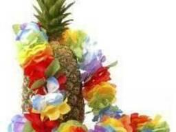 Веночки на голову, гавайские лейсы, юбки, браслеты и заколки