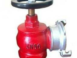Вентиль пожарный чугунный угловой ДУ-50 в комплекте с гайкой