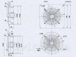Осевой вентилятор Weiguang 4E-350-S-102/34-B (Металлическая пластина)