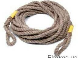 Веревка джутовая д.12 мм - 3.50