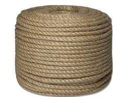 Веревка (канат) джутовая диаметром 8-10-16-20-30-40-50 мм