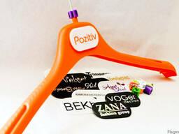 Вешалки для одежды c логотипом, пластиковые ручки с логотипом - фото 2