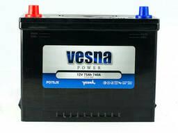 Vesna Japan 75 Ah/12V (левый +)