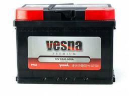 Vesna Premium Euro 62 Ah/12V (правый +)