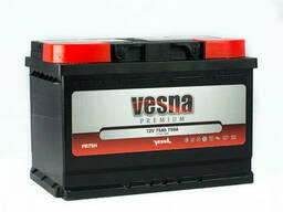 Vesna Premium Euro 75 Ah/12V (правый +)