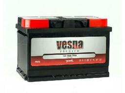 Vesna Premium Euro 75 Ah/12V (правый +) (низький)