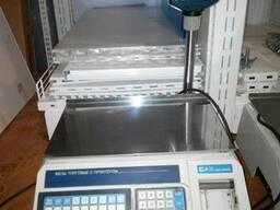 Весы б/у с печатью чека CAS LP-R 1. 6 в отличном состоянии
