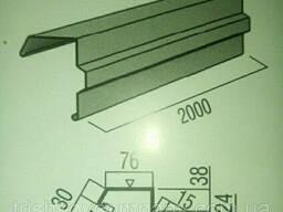 Ветровая планка фигурная. 0.45 мм РЕ 25 мк.