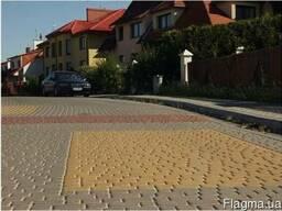 Вибро-сухо-прессованная тротуарная плитка Старый Город. 30мм