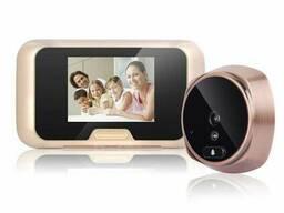"""Видеоглазок дверной цифровой для квартиры Kivos KR08 c 3"""" экраном, подсветкой и. .."""