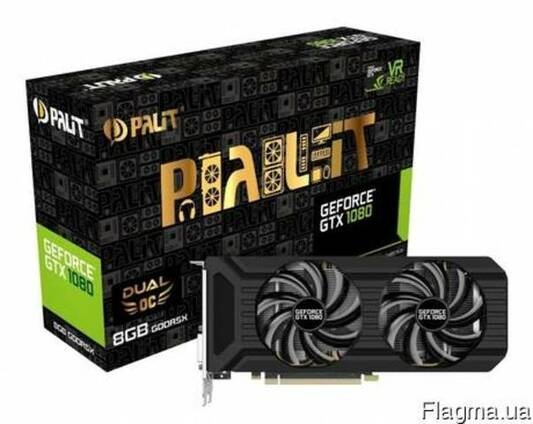 Видеокарта Palit GeForce GTX 1080 Dual OC (NEB1080U15P2-1045