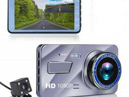 Видеорегистратор Inspire FULL HD 1080P с камерой заднего вида Серебристый (hub_yEkR93881)