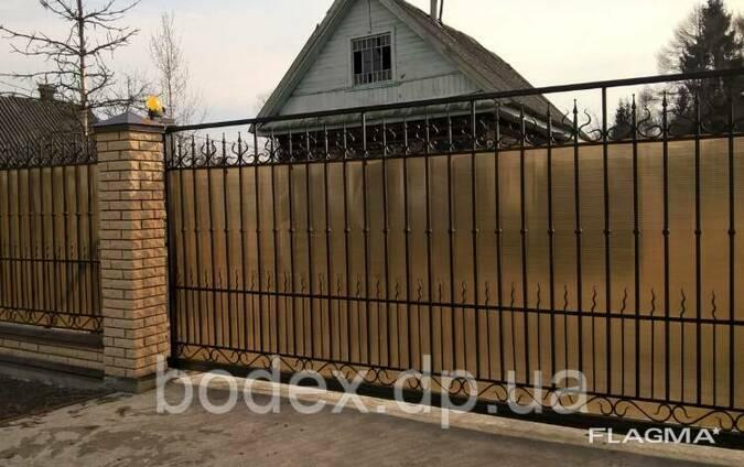 Відкатні автоматичні ворота ковані