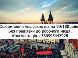 Відкриття чеської визі (90/180 днів)