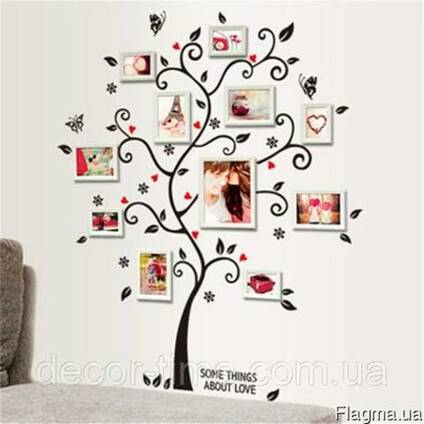 Виниловые наклейки деревьев на стены (023)