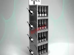 Винные стеллажи и подставки для бутылок